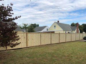 Wood Board on Board Fence in Richmond Virginia